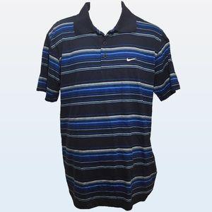 Men's - NWT Nike Blue Striped Polo Shirt